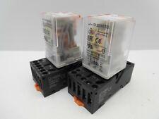 RELPOL 8 PIN 11 PIN 10 AMP 230 VOLT AC RELAY & BASE DIN RAIL MOUNTED PLUG IN