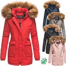 Navahoo Damen Winter Parka Damenjacke Mantel Lang Warm Kunstpelz Schneeengel PRZ
