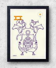 Gemini Impresión! signos del zodíaco, astrología, constelación, signo, Dioscuri