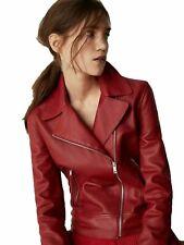 NOORA New Womens  Lambskin Leather Hot Jacket Modern Styles Bikers Jacket  QD116