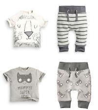 2pcs Kids Newborn  Baby Boys Short Sleeve Monster T Shirt+Pants Cotton Clothes