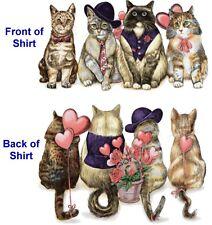 Valentines Day Cat Shirt, Love  T Shirt, Hearts, Flowers, Love, Sm - 5X