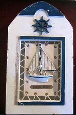 Canvass and Wood Sail Boat Wall Key Box