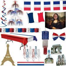 Frankreich Motto Party blau weiss rot Farben Deko Trikolore France Paris USA Set