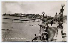 Antique Real Photo Postcard Mar Del Plata Playa Bristol Beach Argentina