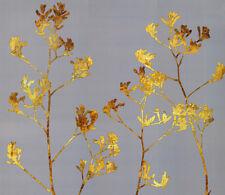 3D Gold Plant Art 1 WallPaper Murals Wall Print Decal Wall Deco AJ WALLPAPER