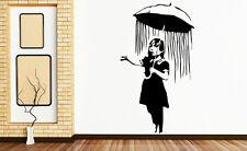 BANKSY Chica Con Paraguas de pared calcomanía de pegatinas de alta calidad. muchos Colores. Nuevo Uk
