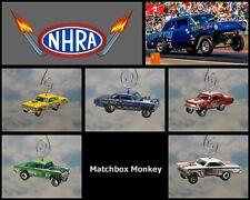 NHRA Hot Rod Drag Racing Classic Muscle Custom Christmas Ornament 1/64 Adorno