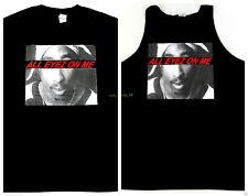 2Pac T-shirt Tank Top TUPAC SHAKUR West Coast Hip Hop Rap Tee Adult Mens Black
