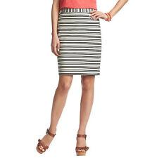 Ann Taylor LOFT Stripe Structured Stretch Cotton Pencil Skirt Size 8 NWT
