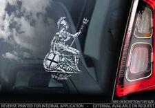Knights Templar - Car Window Sticker - Masonic Britannia Sign Symbol Decal - V06