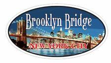 Brooklyn Bridge Oval Bumper Sticker or Helmet Sticker D3653 New York City
