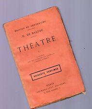gh. de balzac - theatre - tome premier -  1840