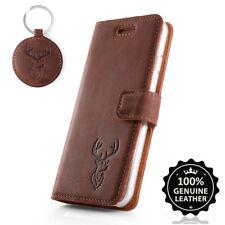 Surazo ® premium maletín de cuero auténtico funda TPU nobuck cartera case-motivo Hirsch