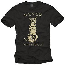 Lustiges Sprüche Nerd Herren T-Shirt mit Katze - Cooles Männer Kitty Shirt