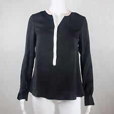 G2000 Womens Basic Long Sleeve Black Casual Blouse Size 34, 36