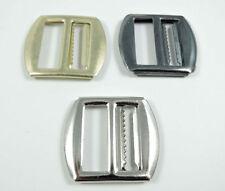 Metal Waistcoat Buckle Slider Fastener 22mm Black, Gold or Silver