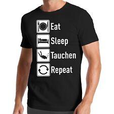 Eat Sleep Tauchen Repeat T-Shirt | Taucher | Schnorcheln | Dive | Diving Wasser