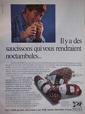 PUBLICITÉ MELLI LES SAUCISSONS DE LYON QUI REND NOCTAMBULE - ADVERTISING