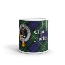 Forbes Clan Crest Coffee / Tea Mug - Scottish Cup 10oz / 295ml