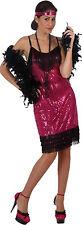 edles pink farbenes Flapper Kostüm Gr.M/L Kopfschmuck Kleid Party 20er Fasching