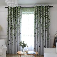 Bedroom Blackout Curtain Set Room Darkening Fabric Sheer Bird in Forest 1 Piece