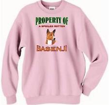 Basenji Dog Sweatshirt - Property of Spoiled Rotten Basenji - T Shirt Available