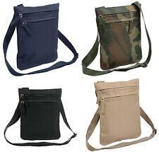 Borsello borsa con 2 tasche e tracolla regolabile 19,5 x 25 cm 4 colori