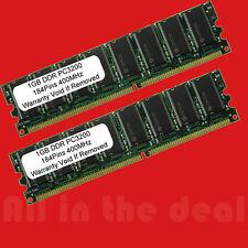 2 @ 512MB = 1GB PC3200 DDR (400) 184 Pin Low Density Desktop memory