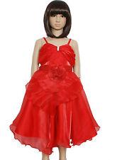 Nuovo Partito Fiore Ragazza Sfilata Damigella Nuziale si veste di rosa,Rosso,