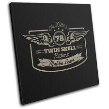 Garage Motorbike Sign Retro Vintage SINGLE TELA parete arte foto stampa