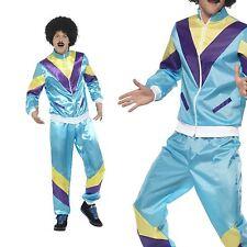 80's Fashion Costume Liverpool Scouser Retro Track Shell Suit Mens Fancy Dress