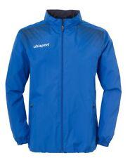 Uhlsport Kids Sports Football Waterproof Rain Zip Jacket Top Junior Blue Navy