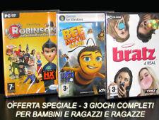 GIOCHI PC I ROBINSON UNA FAMIGLIA SPAZIALE + BEE MOVIE GAME + BRATZ 4 REAL NUOVI