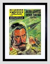 FUMETTI classici illustrati 20000 Leghe sotto mari Verne incorniciato stampa b12x3291