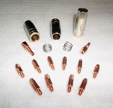 MIG/MAG Set 0,8/1,0/1,2/1,6 Org.Binzel Gas-/Stromdüsen/Düsenstock/Feder Typ MB25