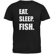 Eat Sleep Fish Black Adult T-Shirt