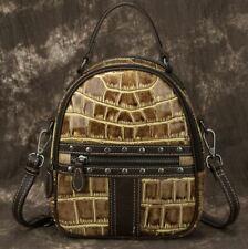 New Women Genuine  Cow Leather Backpack Shoulder Messenger handbag Tote MINI