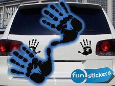 Handabdruck Hände Car Auto Aufkleber Fun Sticker freie Farbwahl