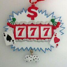 Gambling Jack Pot Casino Personalized Christmas Tree Ornament