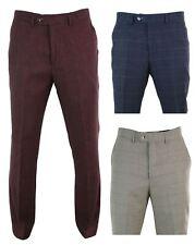Pantalon homme tweed carreaux chevrons Peaky Blinders coupe classique rétro