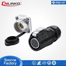 CNLinko 12Pin Waterproof Power Connector Signal Plug Panel Mount Socket Aviation