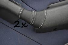 Cuciture BIANCHE si adatta FIAT MAREA 96-2002 2 X CUOIO PORTA MANIGLIA copre