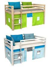 Cama para niños,de alta,cama con cortinas,colchón,somier,muchos colores