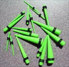 PAIR 2 PIECES Neon Lime Green Ear Taper Plug Stretcher Expander Gauge U PickSize