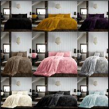 New HUG & SNUG Duvet Cover Set Teddy Fleece Fluffy  Cosy Warm Soft Bedding Sets