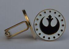 Star Wars New Republic Logo Gold Plate Enamel Cufflinks