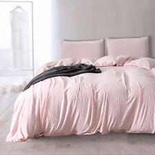Twin Full King Light pink Luxury Soft Warm Bedding Set Pillow Case Duvet Cover
