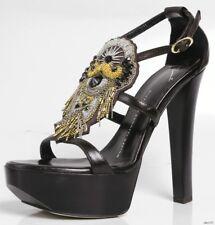 new $1095 Giuseppe ZANOTTI strappy BEADED JEWELED platforms open-toe shoes -SEXY