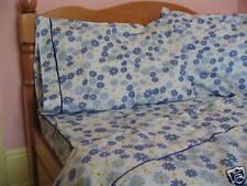 Cotton Blue Daisy Twin Size Comforter Cover/ Duvet Cover Bedding Set 3PC